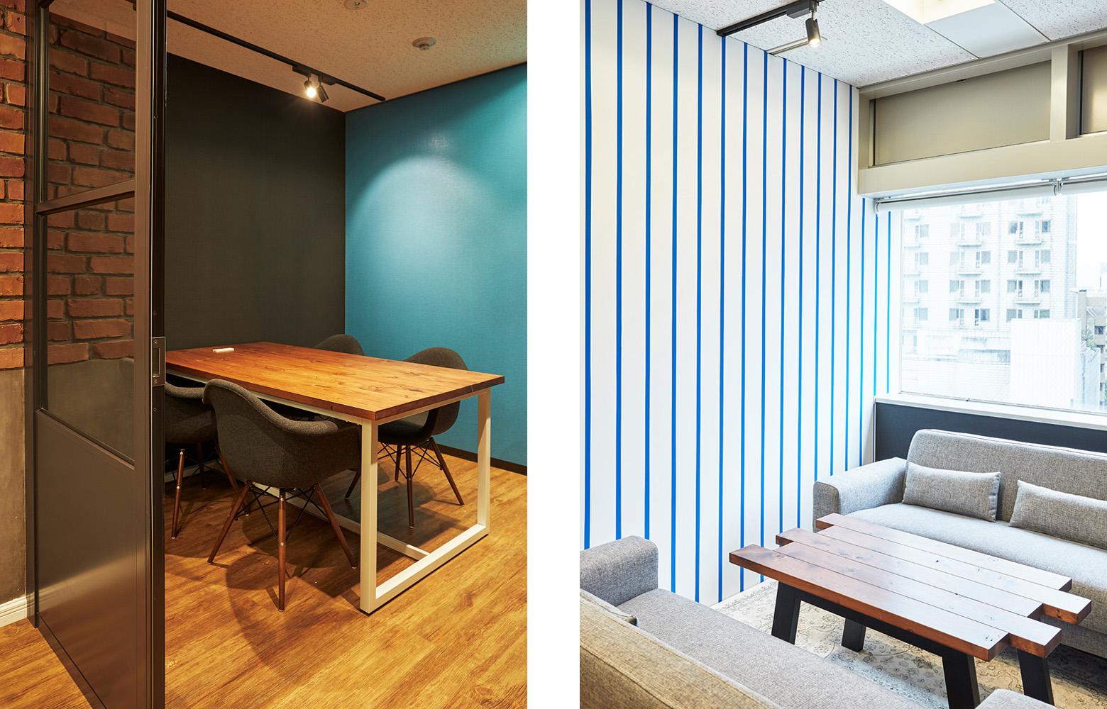 株式会社アット・アップ Meeting Room & Refresh Space デザイン・レイアウト事例