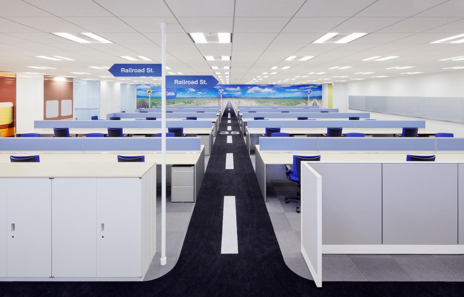 KLab株式会社 Work Space デザイン・レイアウト事例