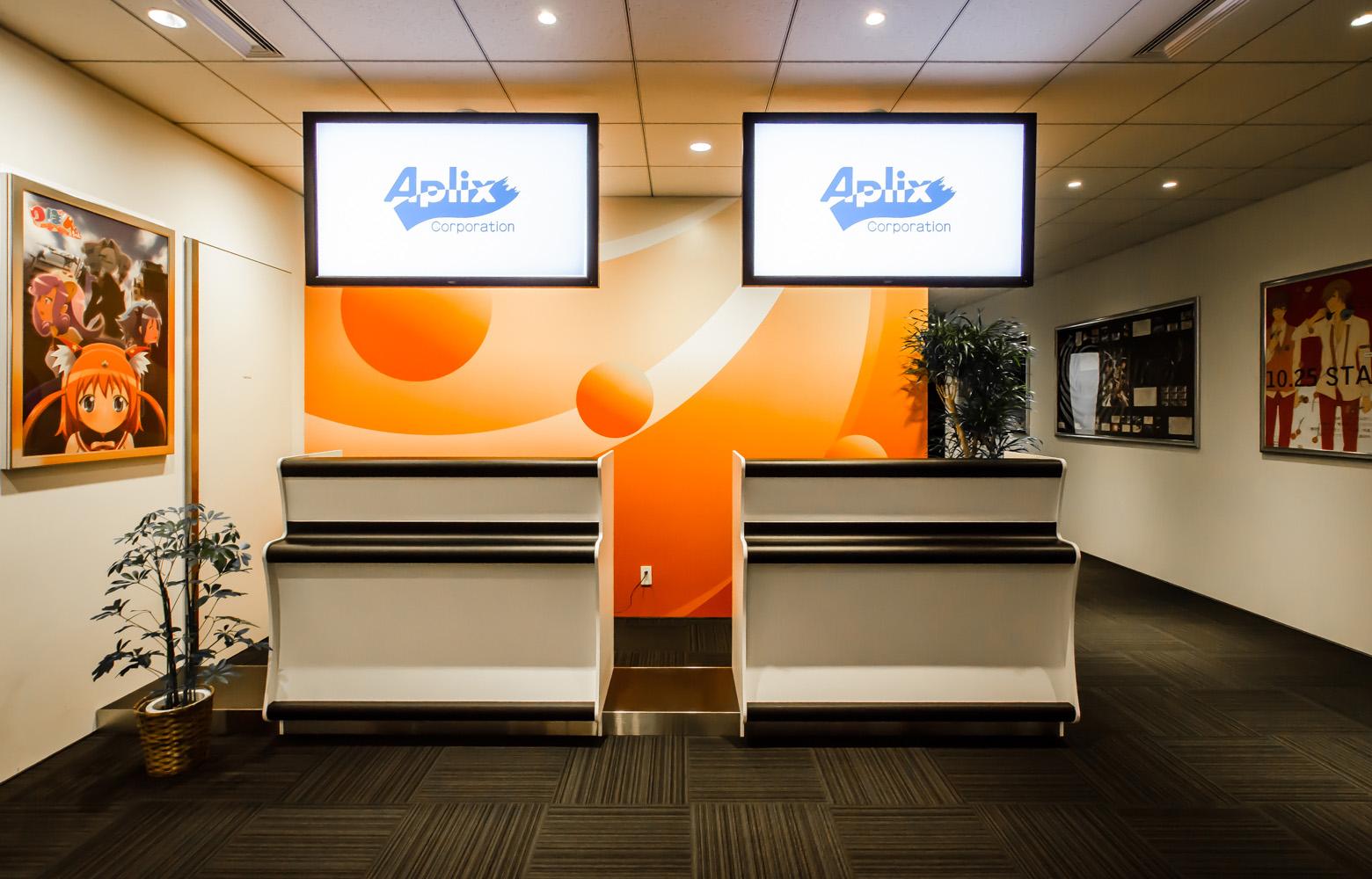 アプリックスIPホールディングス Entrance デザイン・レイアウト事例