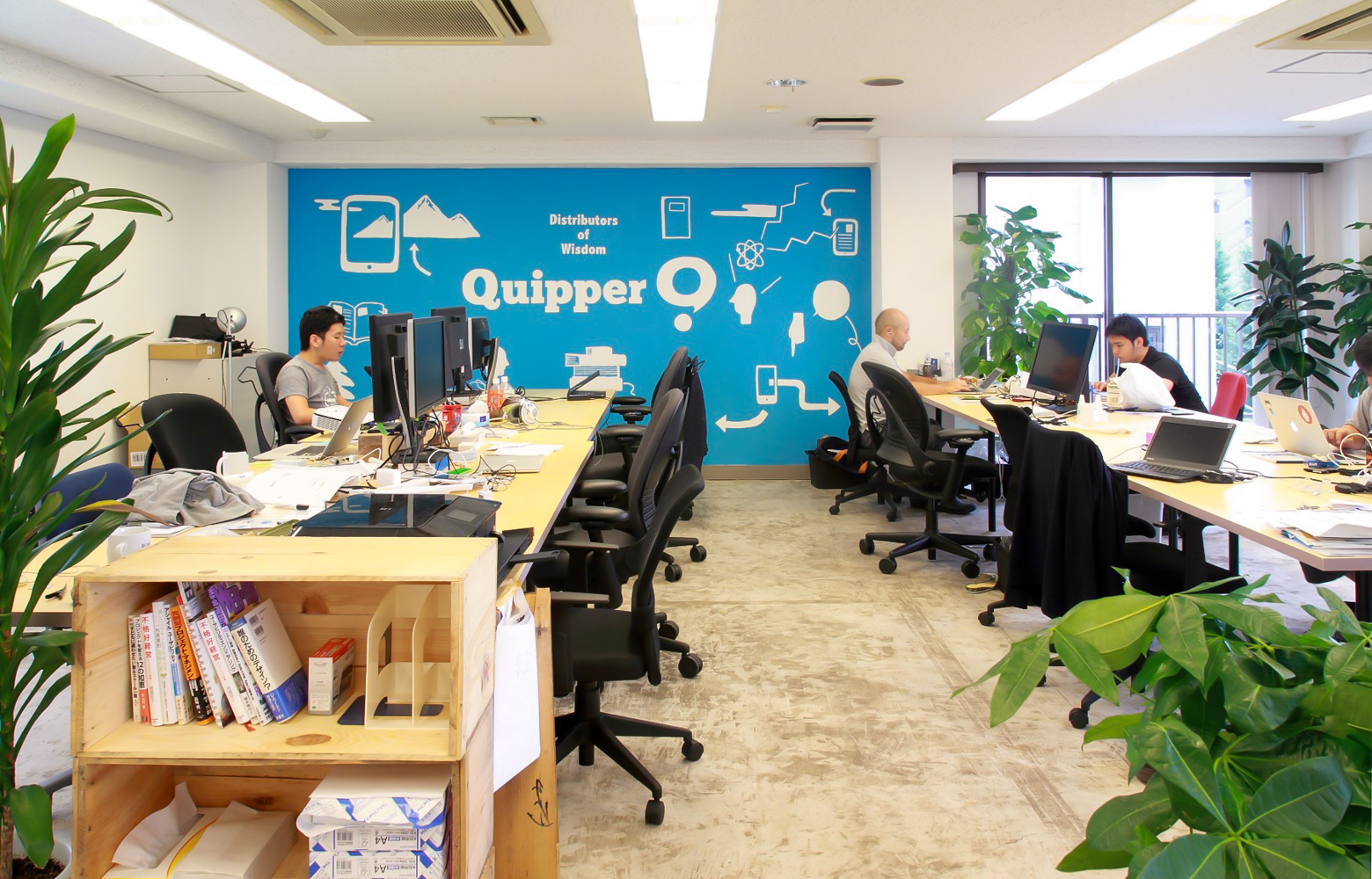 Quipper Ltd Japan Branch Office Work Space デザイン・レイアウト事例