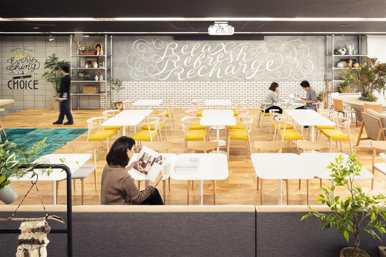 株式会社NTTデータMSE Shinagawa Officeフリースペース《リフレッシュ・多目的エリア》