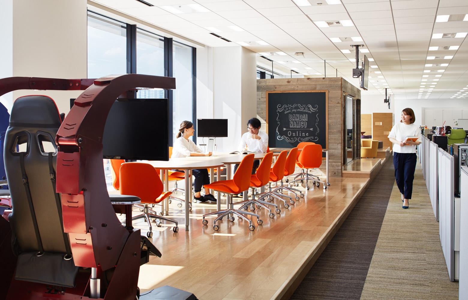 株式会社バンダイナムコオンライン Meeting Space デザイン・レイアウト事例