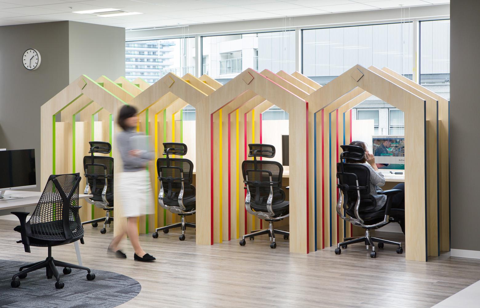 株式会社NTTデータMSE Yokohama Office Intensive booth デザイン・レイアウト事例
