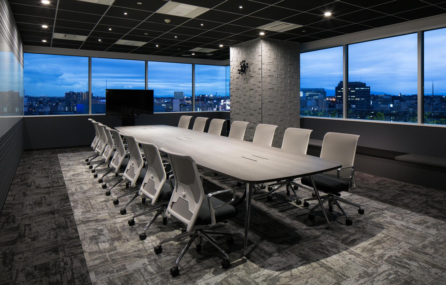 株式会社NTTデータMSE Yokohama Office Meeting Room_4 デザイン・レイアウト事例