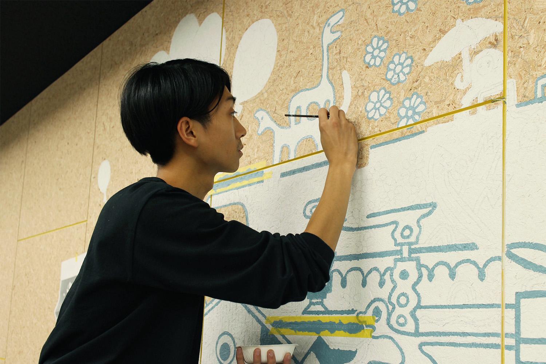 アイディアや刺激を与えるウォールアート
