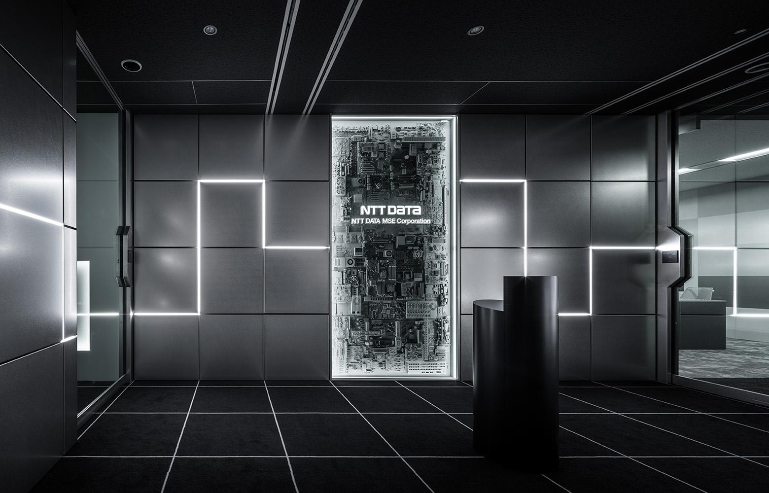 株式会社NTTデータMSE Shinagawa Office Entrance デザイン・レイアウト事例