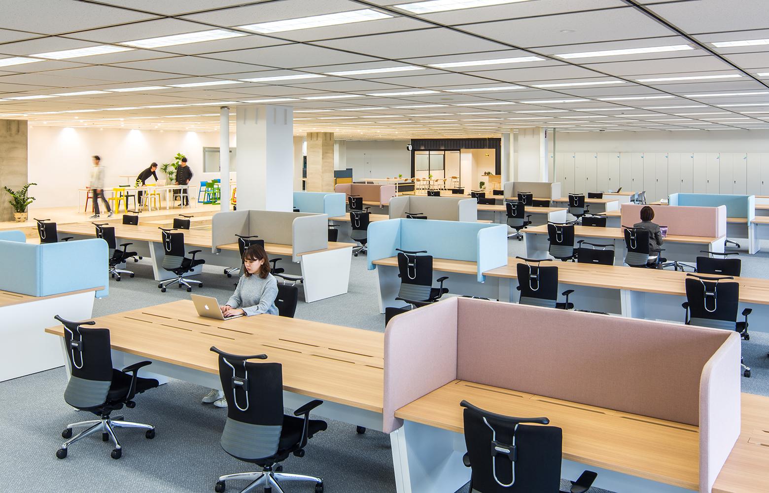 日本電信電話株式会社 横須賀研究開発センタ Work Space デザイン・レイアウト事例