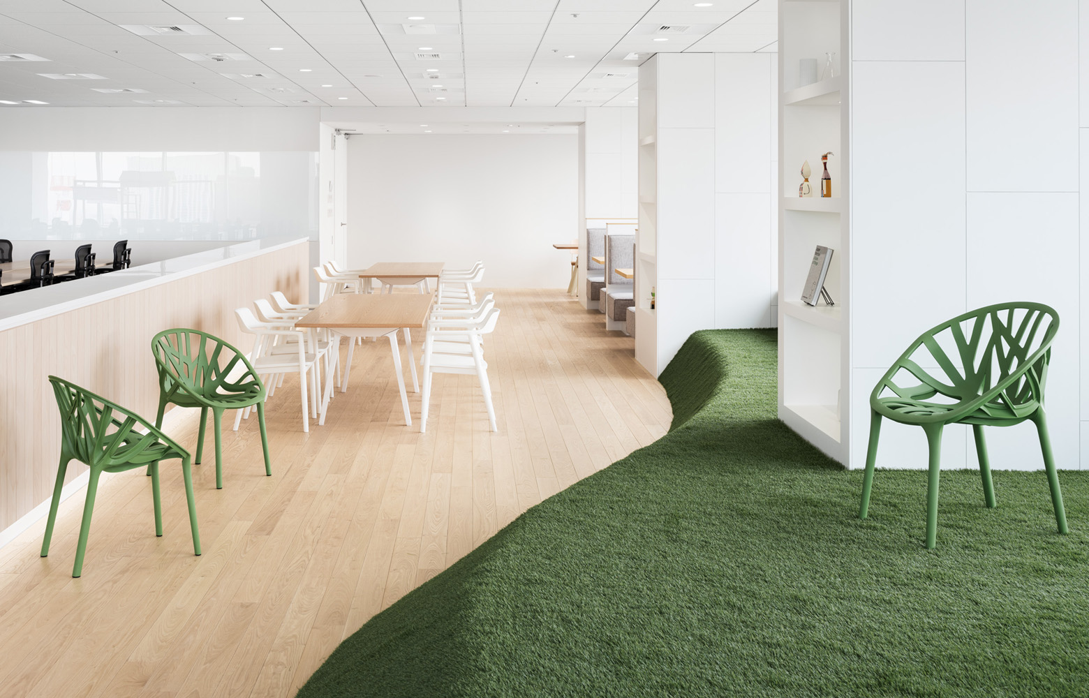 ダイアモンドヘッド株式会社  Sapporo Office Refresh Space デザイン・レイアウト事例