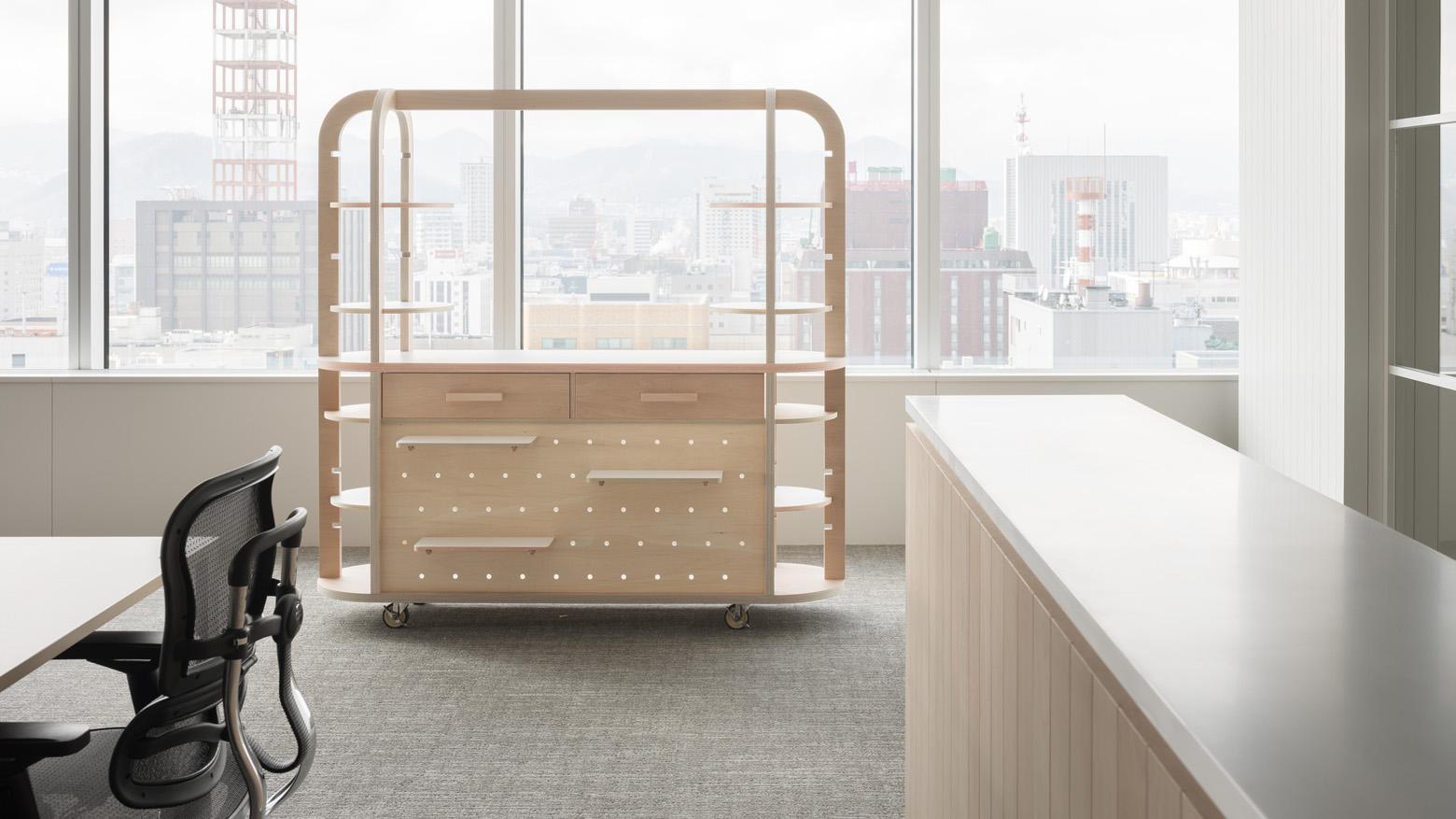 ダイアモンドヘッド株式会社  Sapporo Office Original Furniture_2 デザイン・レイアウト事例