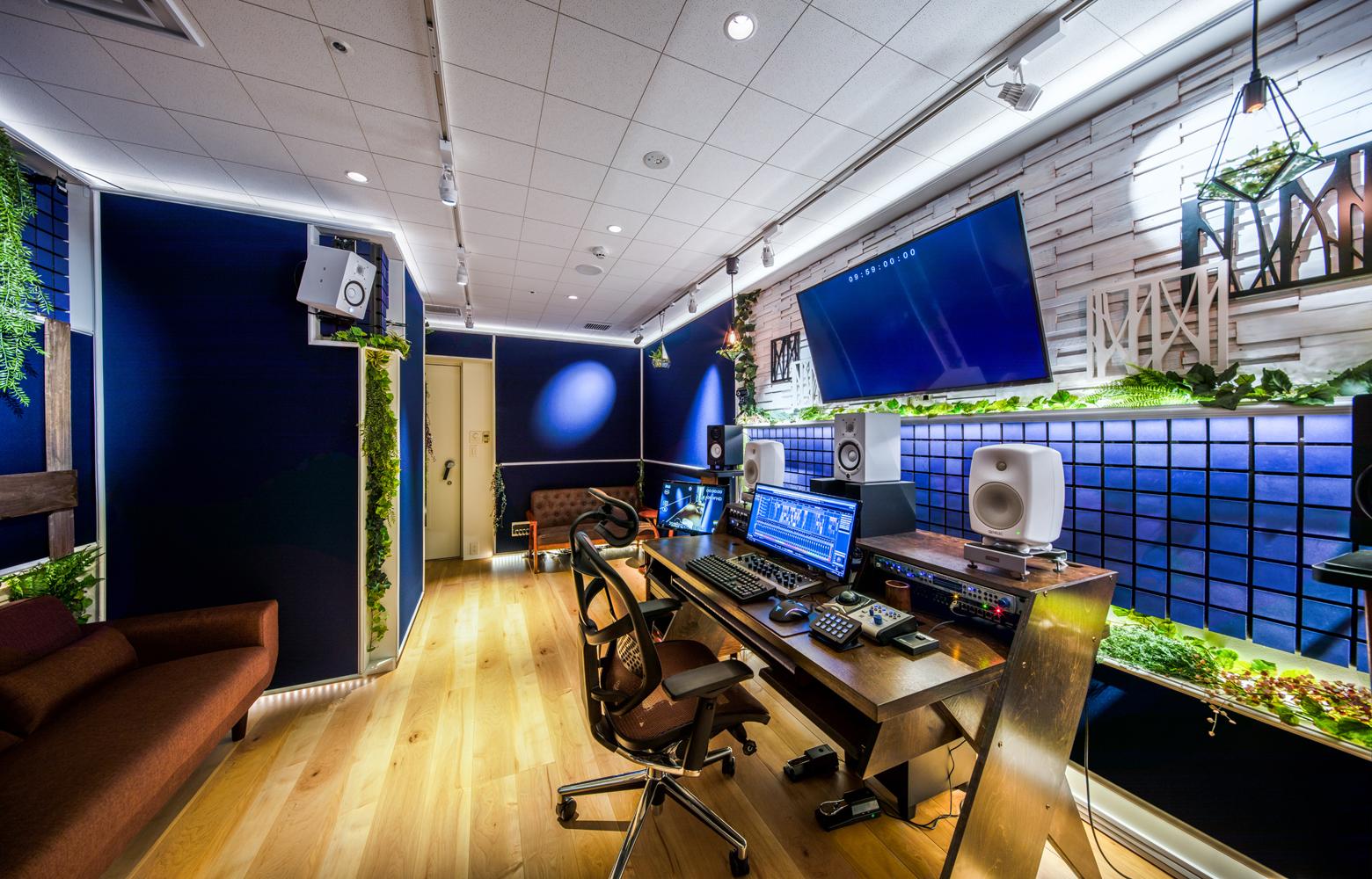 KLab株式会社 Roppongi Office Recording Studio_3 デザイン・レイアウト事例