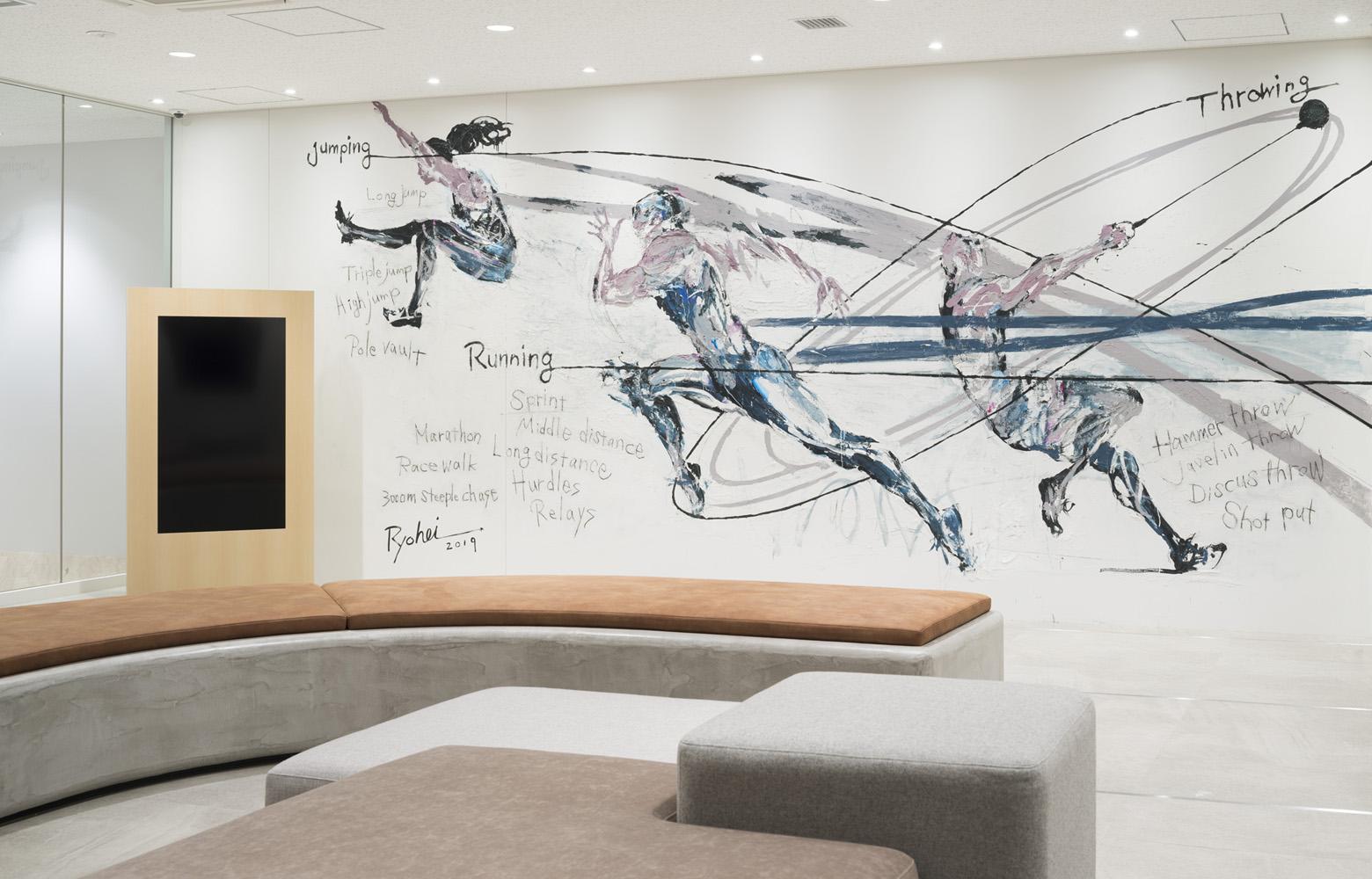 公益財団法人日本陸上競技連盟 Entrance_Art デザイン・レイアウト事例