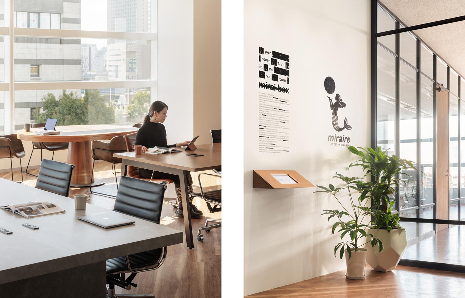 株式会社未来ボックス Work Space_6 & Entrance デザイン・レイアウト事例