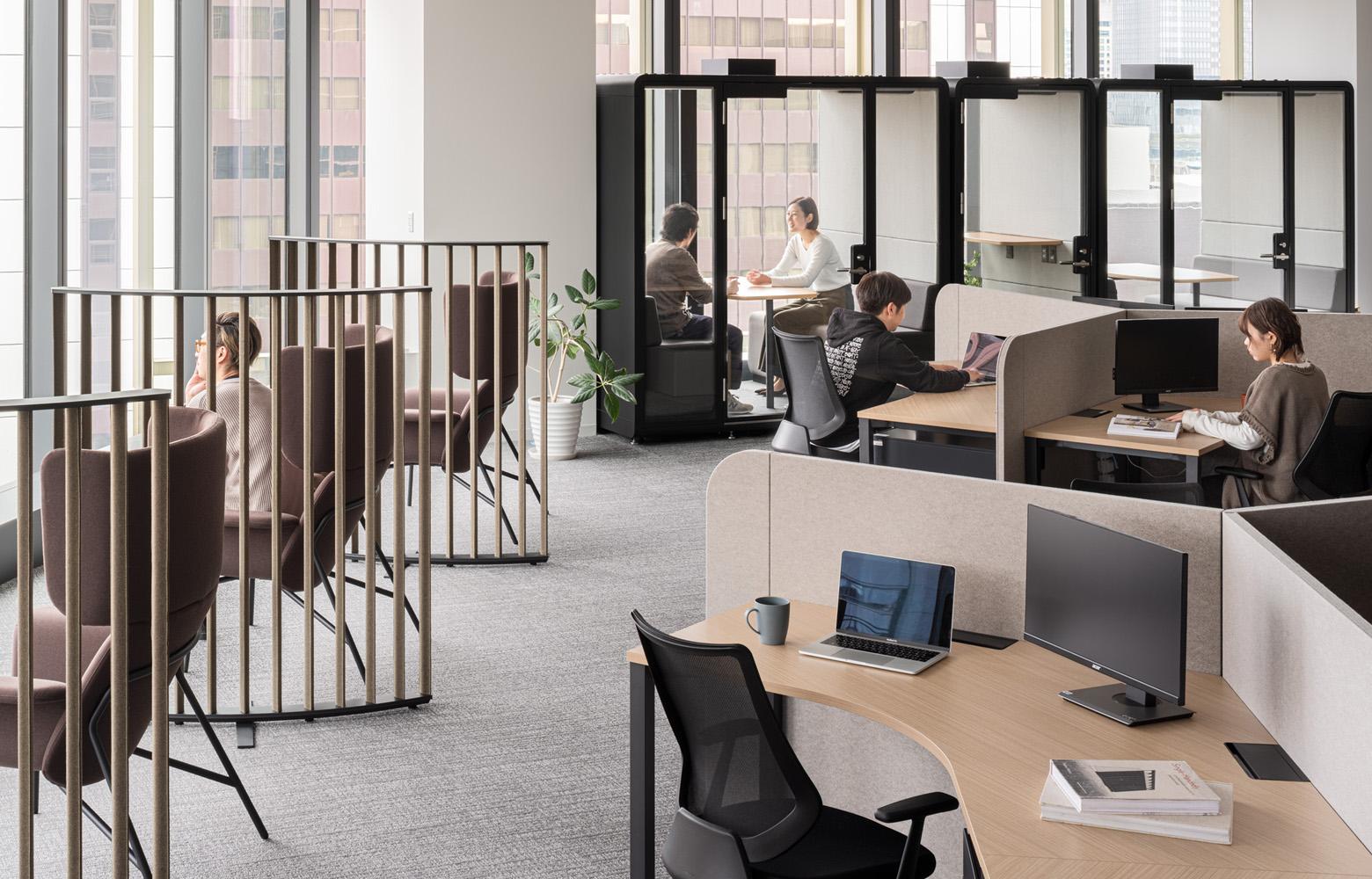 日本成長投資アライアンス株式会社 Work Space デザイン・レイアウト事例