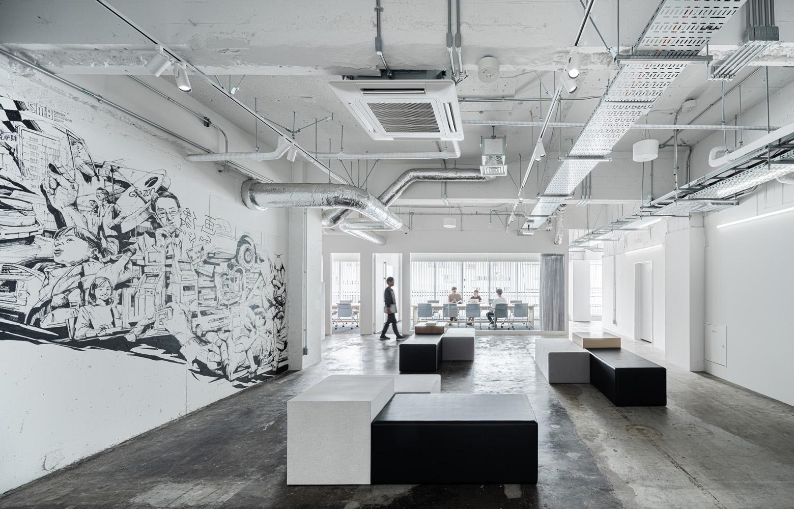 トヨタコネクティッド株式会社 Entrance Lounge_2 デザイン・レイアウト事例