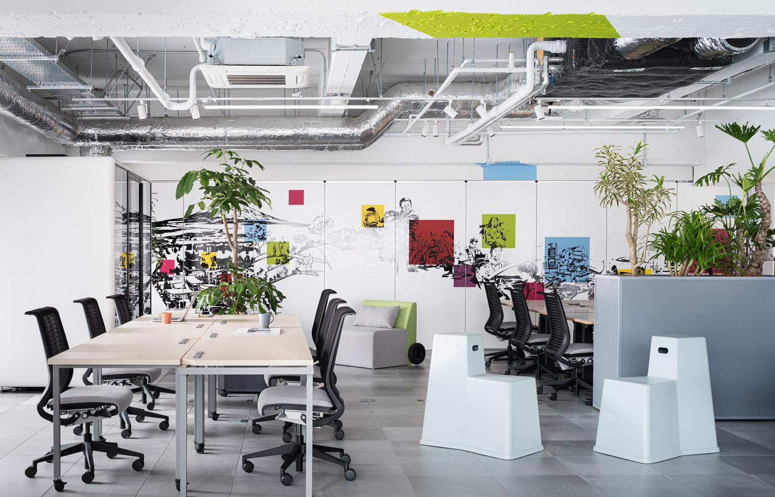 トヨタコネクティッド株式会社 Work Space_4 デザイン・レイアウト事例