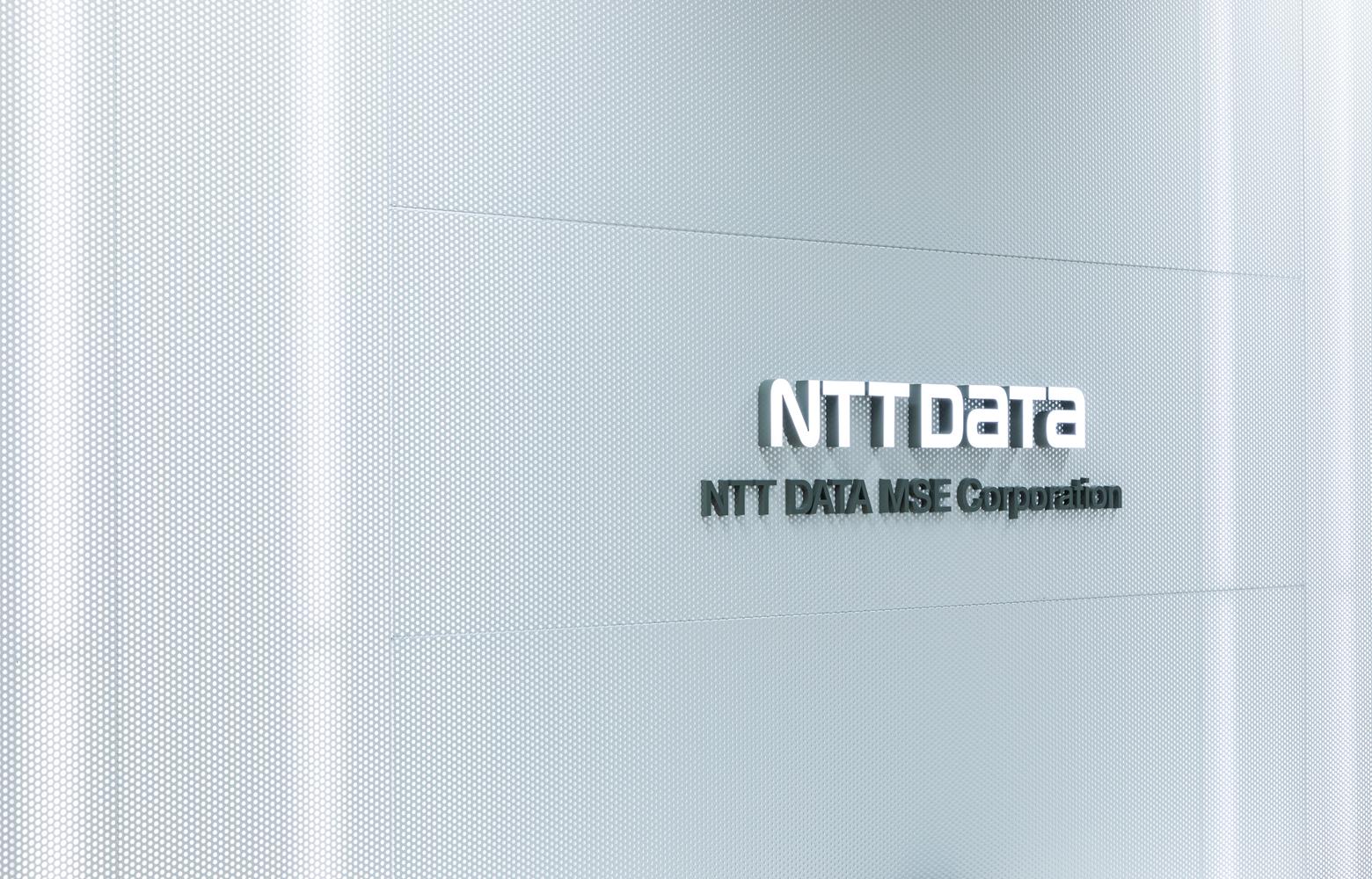 株式会社NTTデータMSE Shinyokohama Office Entrance_Sign デザイン・レイアウト事例